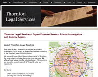 Thornton Legal Services Screenshot